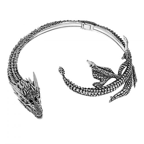 MEY for Game of Thrones Drogon Choker, Sterling Silver